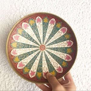 Vintage bohemian Brass Multi Color Catch All Try